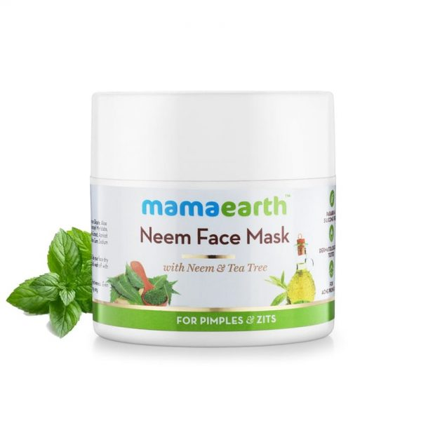 Neem Face Mask with Neem and Tea Tree for Pimples and Zits