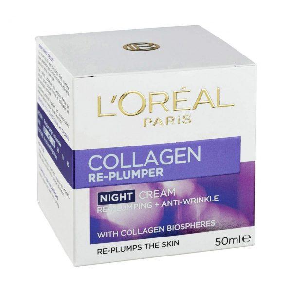 L'Oreal Paris Collagen Re-plumper Night Cream - 50ml