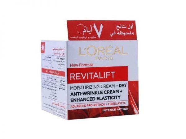 L'Oreal Paris Revitalift Moisturizing Cream Day Anti-Wrinkle Cream + Enhanced Elasticity, 50 mL