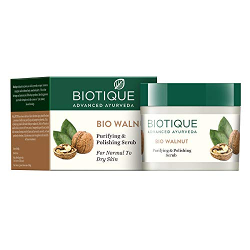 biotique bio walnut purifying & polishing scrub 50gm