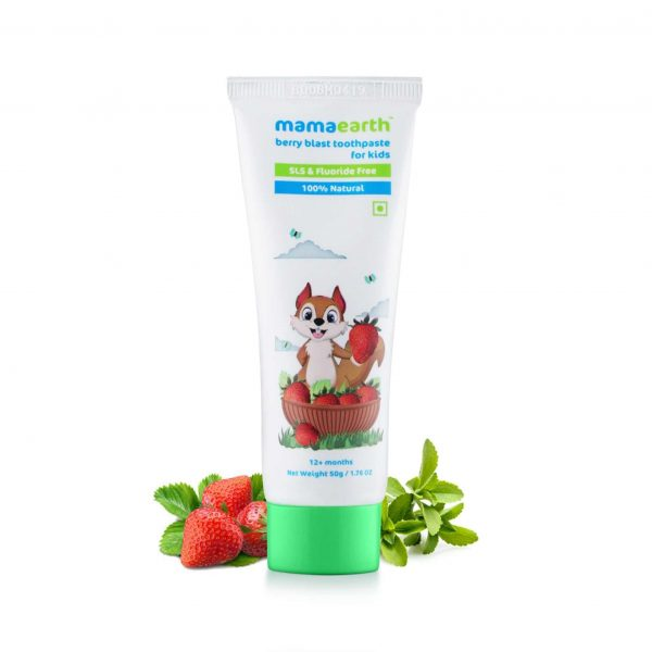 100% Natural Berry Blast Toothpaste for Kids, 50gm
