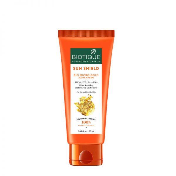 Biotique Bio Micro Gold Matte Cream Sunscreen SPF 30 (50ml)