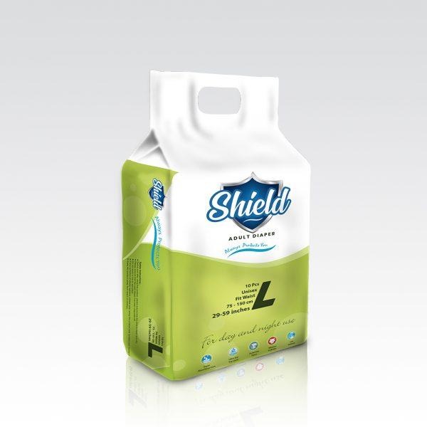 Shield Adult Diaper – Large-10 pcs