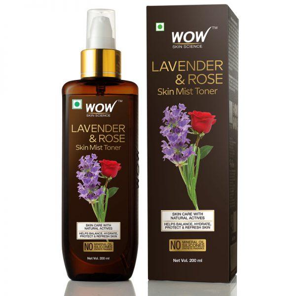 Wow Lavender & Rose Skin Mist Toner 200ml