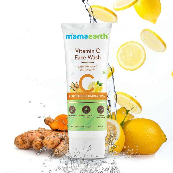 Mamaearth Vitamin C Face Wash with Turmeric 100ml